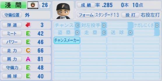 実況パワフルプロ野球2016ver1.03淺間 大基パワプロ
