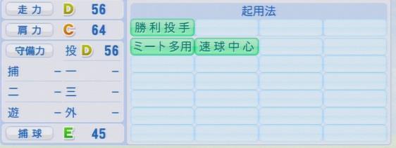 実況パワフルプロ野球2016ver1.03今村 信貴パワプロ