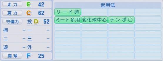 実況パワフルプロ野球2016ver1.03宮國 椋丞パワプロ