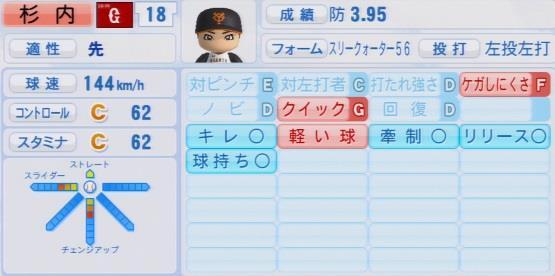 実況パワフルプロ野球2016ver1.03杉内 俊哉パワプロ