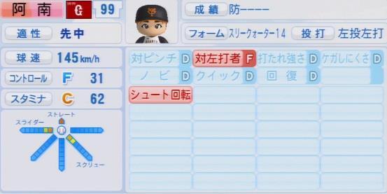 実況パワフルプロ野球2016ver1.03阿南 徹パワプロ