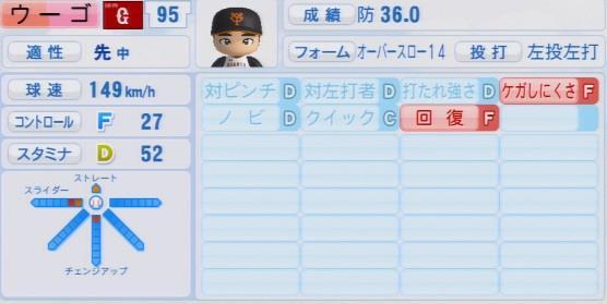 実況パワフルプロ野球2016ver1.03ウーゴ パワプロ