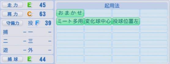実況パワフルプロ野球2016ver1.03江柄子 裕樹パワプロ