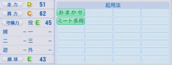 実況パワフルプロ野球2016ver1.03公文 克彦パワプロ