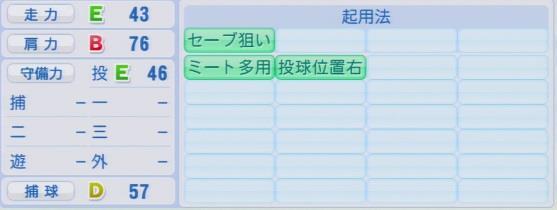実況パワフルプロ野球2016ver1.03西村 健太朗パワプロ