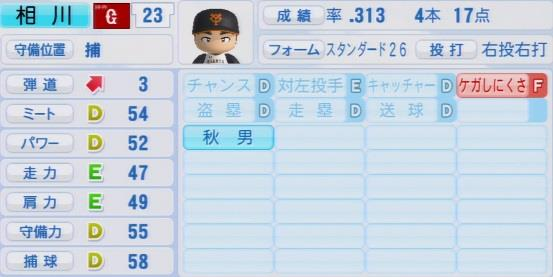 実況パワフルプロ野球2016ver1.03相川 亮二パワプロ
