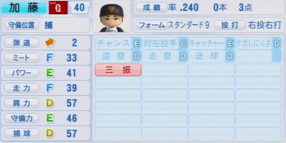 実況パワフルプロ野球2016ver1.03加藤 健パワプロ