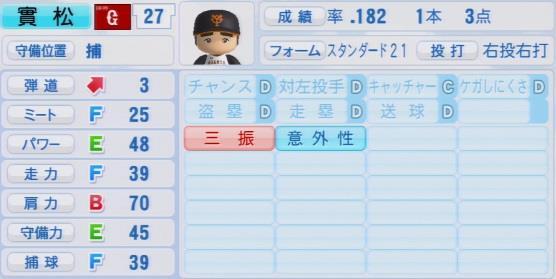 実況パワフルプロ野球2016ver1.03實松 一成パワプロ