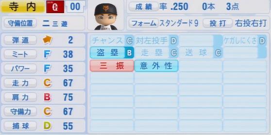 実況パワフルプロ野球2016ver1.03寺内 崇幸パワプロ