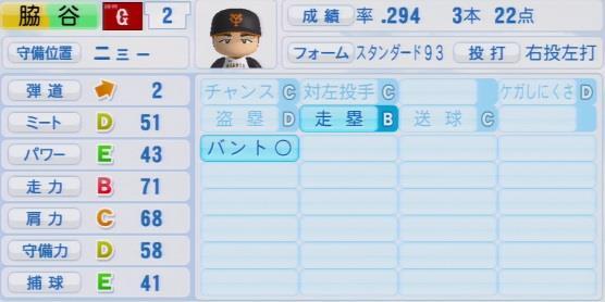 実況パワフルプロ野球2016ver1.03脇谷 亮太パワプロ