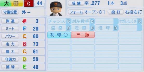 実況パワフルプロ野球2016ver1.03>大田 泰示パワプロ