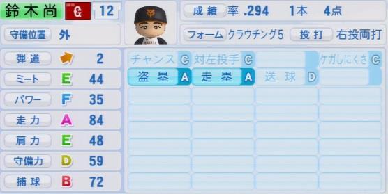 実況パワフルプロ野球2016ver1.03鈴木 尚広パワプロ