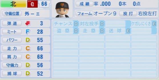 実況パワフルプロ野球2016ver1.03北 篤パワプロ