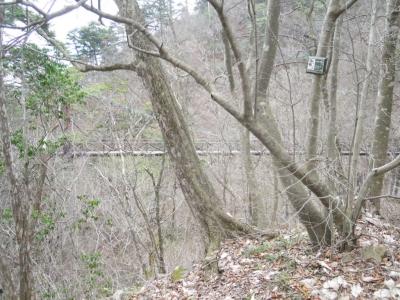 三頭の大滝の処の吊り橋