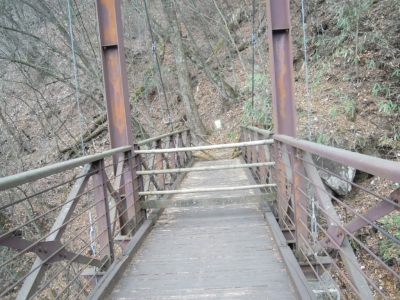 吊り橋そっちには行けない