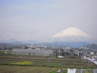 朝の富士160406