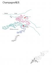 シャンパーニュ白地図