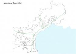 ラングドックルーション白地図①