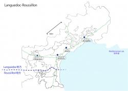 ラングドックルーション白地図②