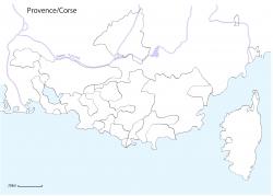 プロヴァンス・コルシカ書き込み白地図2016