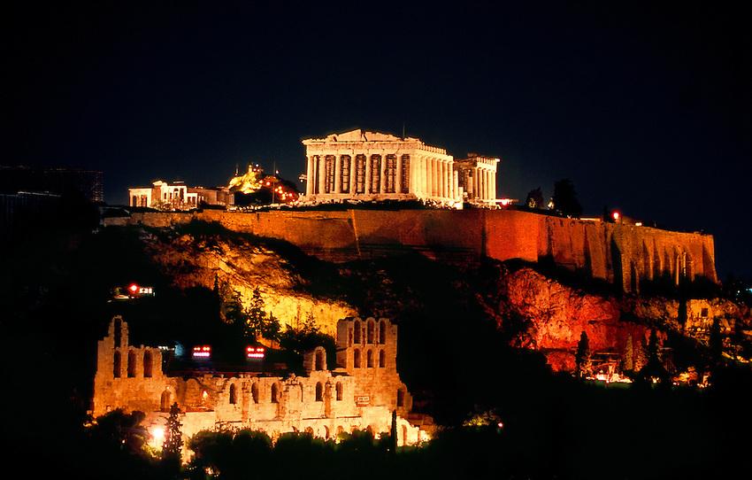 アクロポリス夜