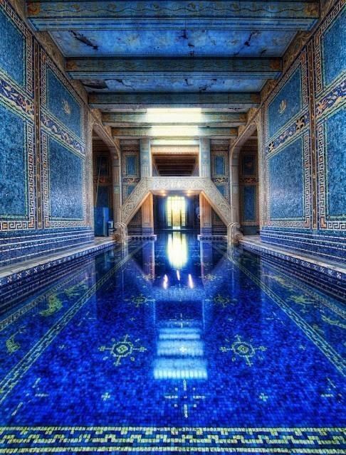 アメリカハースト・キャッスルの室内プール