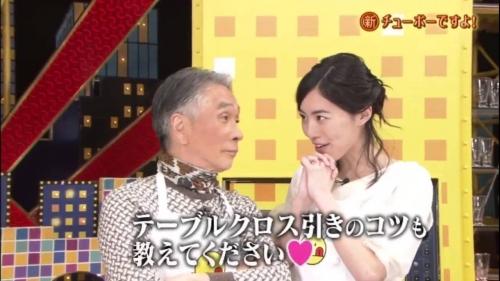 SKE48・松井珠理奈が元祖・テーブルクロス引きの巨匠・堺正章のお墨付きを狙って奮戦