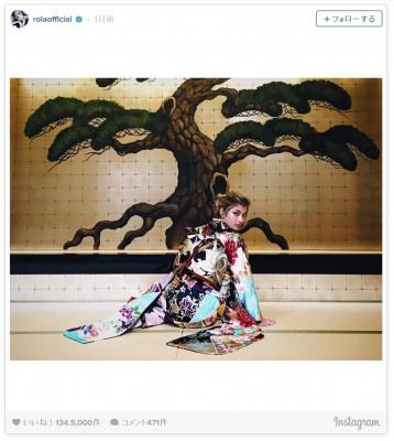 ローラ、艶やかな着物姿披露「日本に生まれたのが誇らしい」