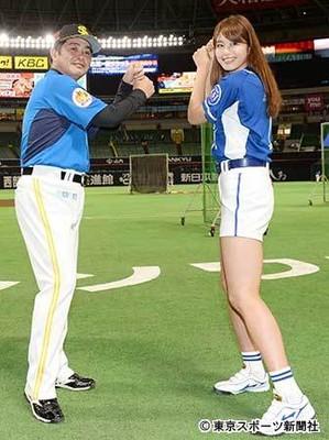"""""""神スイング""""稲村亜美、大谷の初球先頭弾に「私のも含めたら2球目」"""