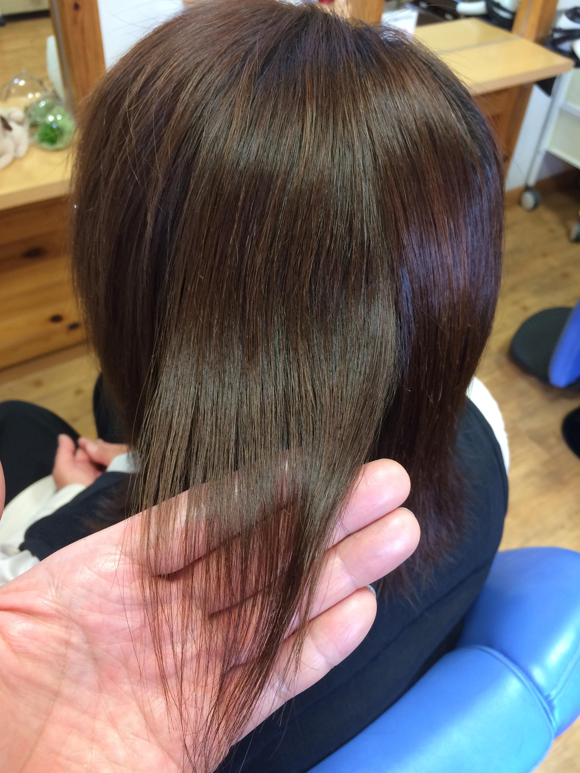 アフター 加齢で髪のお悩みの方 縮毛矯正