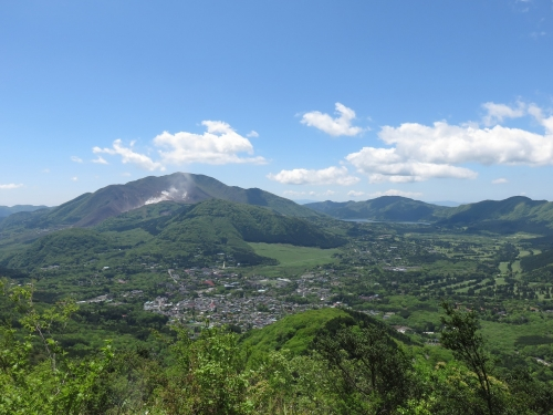 金時山からの神山・大涌谷