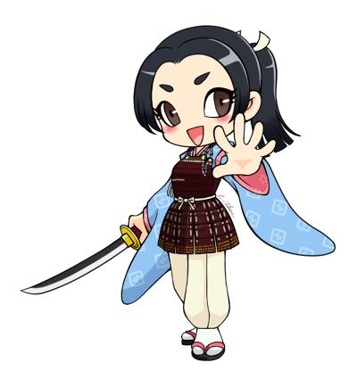 デフォルメ鶴姫様