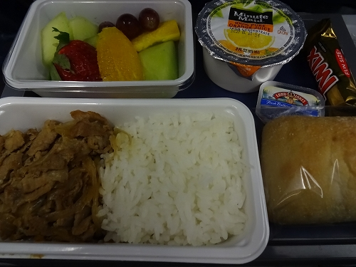 デルタの機内食