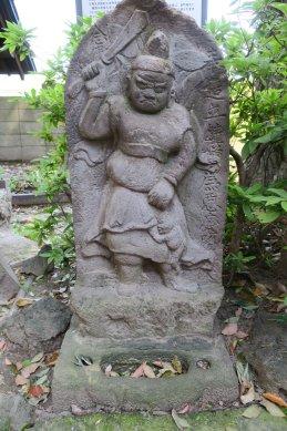 葛西神社鐘馗石像