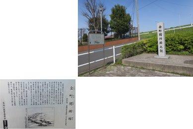 金町関所跡の碑
