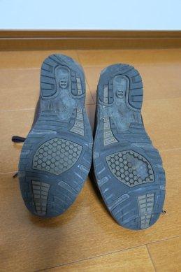 靴底の剝れ