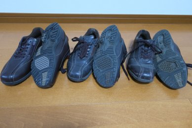 ウォーキングシューズ新旧・靴裏も