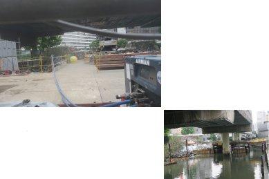 常磐橋御門(まだ修理中)