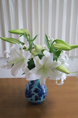 切花にし、花瓶に挿す