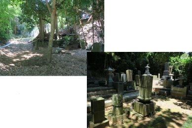 卵塔場(左・埋墓と右・詣墓)