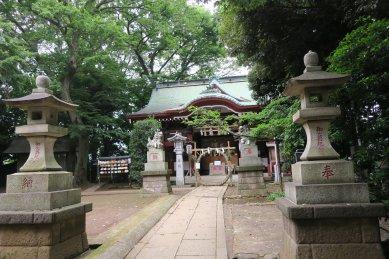 子明神(駒繋神社・拝殿)
