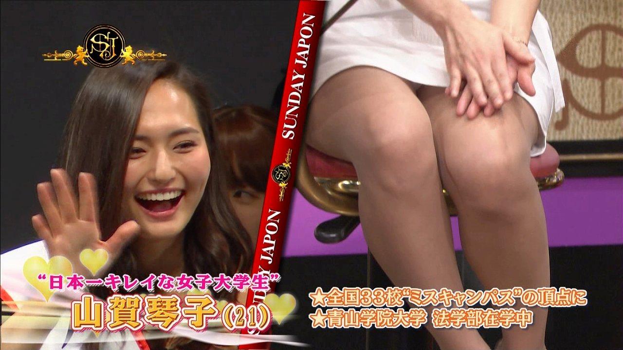 ミスキャンパスの頂点、日本一キレイな女子大生・山賀琴子が純白パンツパンチラ