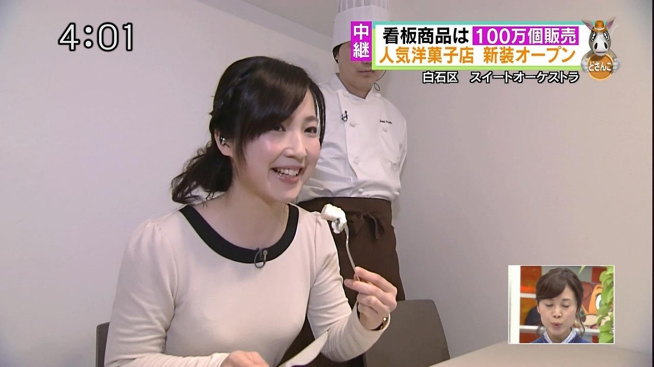 北海道女子アナの着衣巨乳