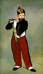 笛を吹く少年