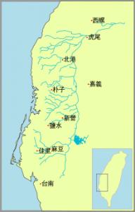 嘉南大圳の主な灌漑水路