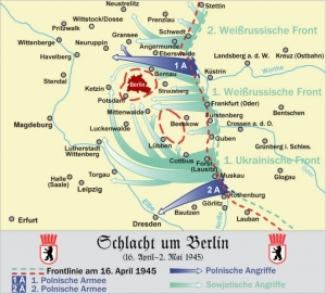 ベルリン攻防戦の侵攻図