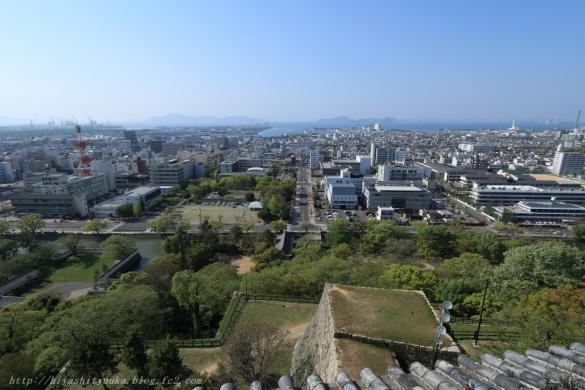 丸亀城から丸亀港ーSN