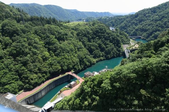 宮ヶ瀬ダム天端からの展望ーSN