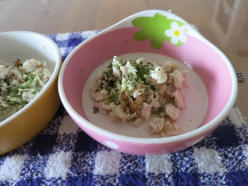 胸肉の焼き鳥丼&玄米ご飯