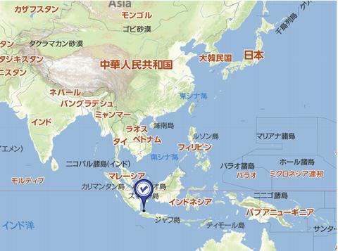ジャカルタの地図